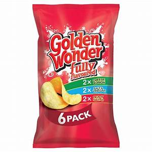 Crisps Golden Wonder Multipack of 6