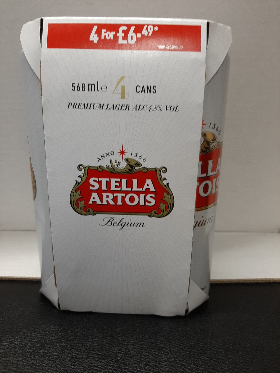 Stella Artois 4 pint pack 568ml x 4
