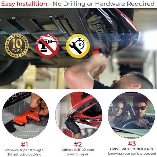 (x2) SLiPLO Universal Bumper Scrape Guard DIY Kit - SLIPLO