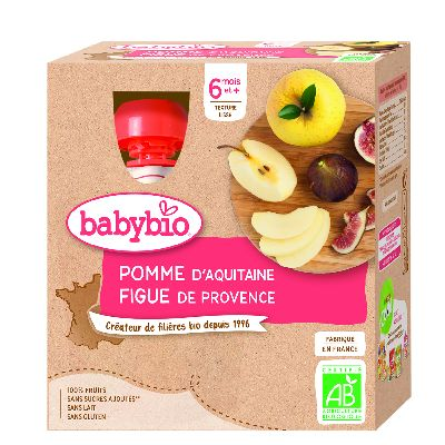 GOURDE POMME FIGUES 4X90G