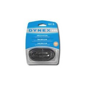 Dynex 3.04m (10 ft.) USB 2.0 A/B Cable (DX-C114195)