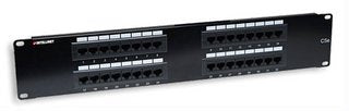 32 Port Cat5e Patch Panel - 2u, Black