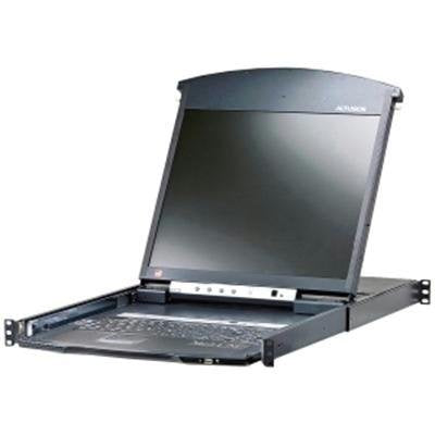 16-Port 19in. Dual Rail Cat5 LCD Kvm Over The Net