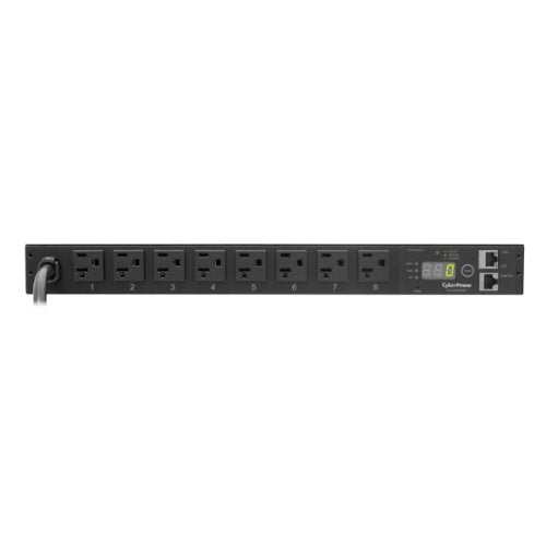 CyberPower PDU20M8FNET Monitored PDU RM 1U 20A 8-Outlet