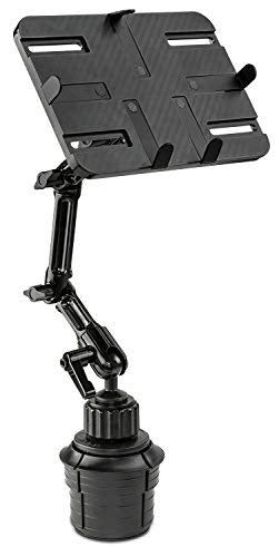 Mount-It! MI-7320 Tablet Mount for Car Cup Holder, Rotating Tilting Stand for Apple iPad, Samsung Galaxy Tab, Microsoft Surface, and Other Tablets with 7 to 11 Inch Screen Sizes, 3.3 Lbs Capacity