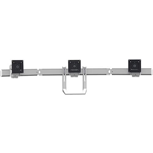 Open Box Ergotron 98-009-026 HX Triple Monitor Bow Kit in Polished Aluminum for 2-10.2 lbs Monitors