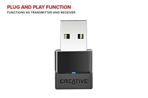 Creative BT-W2 Portable Bluetooth Audio Transceiver with aptX Low Latency for PC, Mac, PS4, and Nintendo Switch