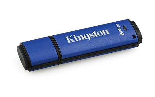 Kingston Digital Data Traveler AES Encrypted Vault Privacy 256Bit 3.0 USB Flash Drive