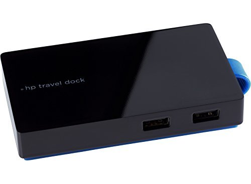 HP USB Travel Dock (T0K30AA#ABA) Port Replicator, Docking Station