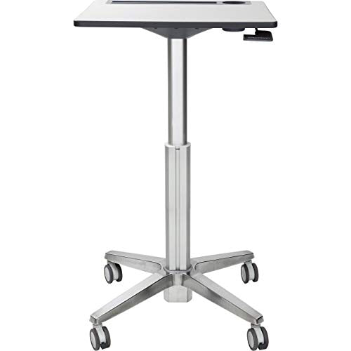 Ergotron - LearnFit Sit-Stand Desk - Mobile Desk - Grey and Silver