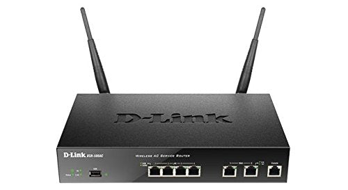 D-Link DSR-500AC Wireless AC VPN Router, 4 Gigabit Ports, Dual Wan, Selectable Dual Band, Black