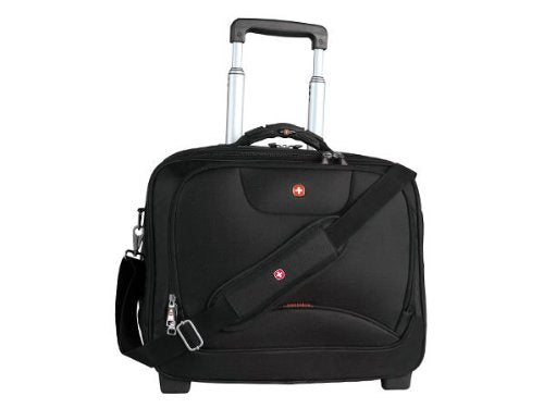 Swiss Gear SWA0568 Wheeled Business Case with Laptop Sleeve (Black)