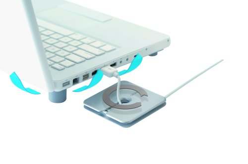 Bluelounge NBK-01-SL Notebook Kit W/Coolfeet, Cableyoyo & Adhesive Plates