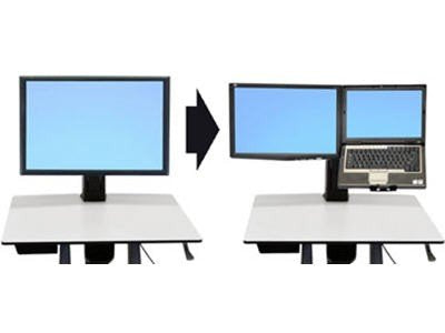 Ergotron WorkFit-C Convert-to-Dual Kit from Single HD Display - m ... (97-606) -