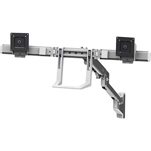 Ergotron 45-479-026 HX Wall Dual Monitor Arm, Polished Aluminum