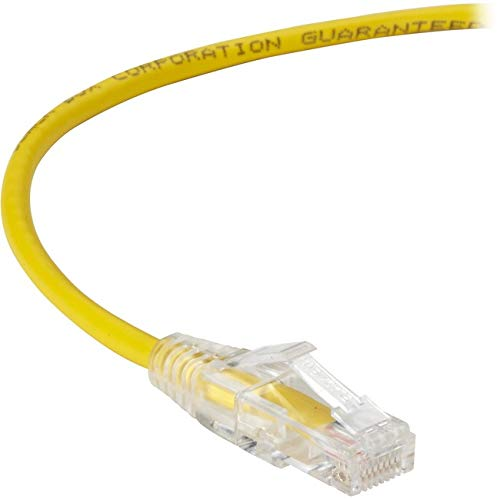 Slim-Net Cat6 Patch Cable Yellow 2Ft