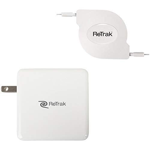 87-Watt USB-C Notebook Charger with Retractable Cable