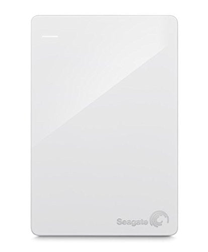 Open Box Seagate - Backup Plus Slim 2TB External USB 3.0/2.0 Portable Hard Drive - White
