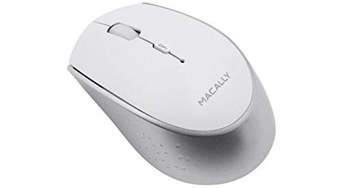 The Macally BTEZMOUSEBAT is a rechargeable Bluetooth wireless optical mouse with