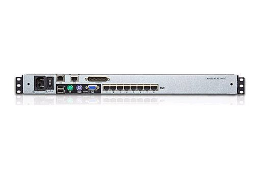 8-Port 17in. Dual Rail Cat5 LCD Kvm Over The Net