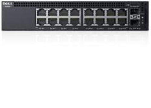 Dell Networking X1018 - Switch - 16 Ports - Managed - Rack-mountable, Black (463-5909)