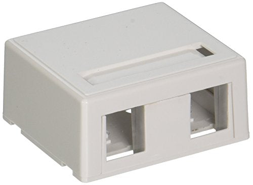 C2G 03833 2-Port Keystone Jack Surface Mount Box, White