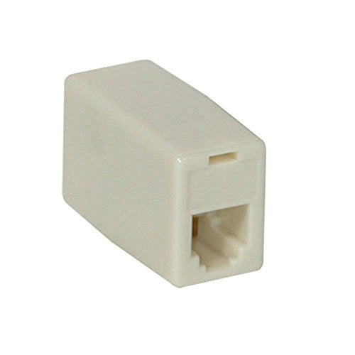 Rj11 4-Pin Modular Inline Coupler Crossed - Color: Ivory