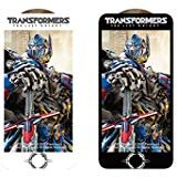 Transformers: Licensed Screen Protector - White Frame - for iPhone 7 Plus, iPhone 8 Plus, Tempered Glass, 3D Curve Edge Full Screen Coverage, Premium HD Clear 9H Hardness - Swordfish Tech