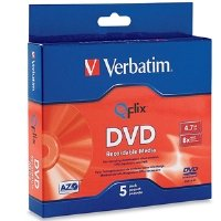 Verbatim 4.7GB 8X Qflix Media DVD-R (5pk Slim Case) 96747