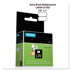DYMO LABELWRITER 30333 WHITE MULTI-PURPOSE LABELS (2-UP), 1/2 X 1 1000 PER ROLL