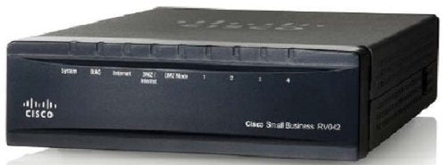 Cisco RV042 4-port 10/100 VPN Router, Dual WAN, grey and black, One Size