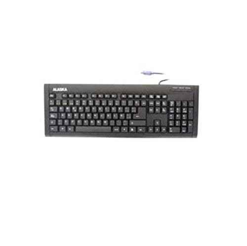 Alaska Keyboard 660Sp-Ps2 Spanish Ps2 Slim Standard Black Color White Box