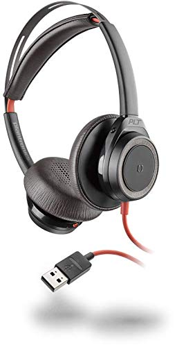 Plantronics Blackwire 7225 Headset - Stereo - Black - USB Type A - Wired - 32 Ohm - 20 Hz - 20 kHz - Over-The-Head - Binaural - Supra-Aural - Noise Cancelling, Omni-Directional Microphone - Noise Canc
