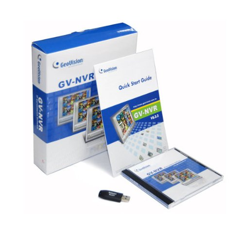 Open Box Genuine Geovision 1 Channel 3rd Party NVR IP Software with USB Dongle Onvif PSIA