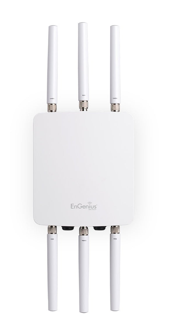 EnGenius High-Powered, Long-Range, Ruggedized 3 x 3 Dual-Band Wireless AC1750 Outdoor Access Point, 29 dBm, IP68, Gigabit Port, 802.3af/at PoE(ENH1750EXT)
