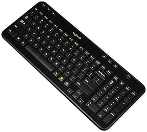 Logitech K360 Wireless Keyboard, Black, English (920-004088)