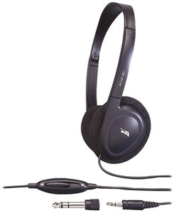 Cyber Acoustics 3.5MM Plug ACM-90 Stereo Headset with Volume Control (Black)