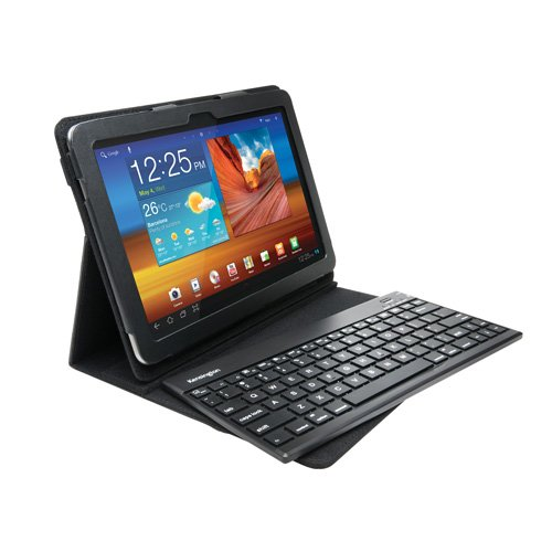 Kensington KeyFolio Pro 2 Removable Keyboard, Case and Stand for Galaxy Tab, Black (K39513US) (Discontinued by Manufacturer)
