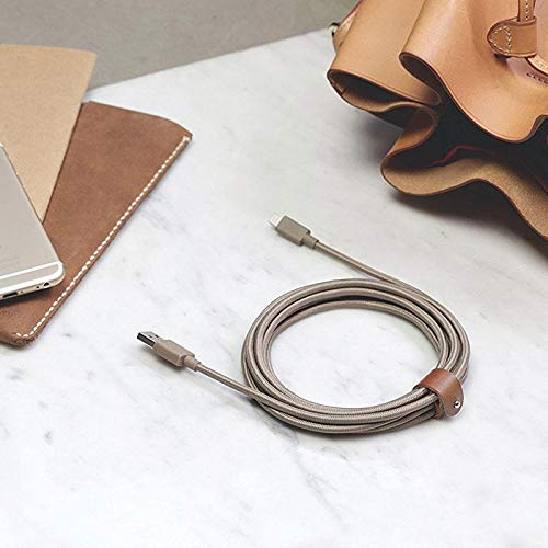 Native Union BELT Cable XL - 10ft Lighting to USB Cable (Taupe)