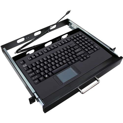 Adesso AKB-420UB-MRP 1u 19inch Rackmount Drawer with USB Touchpad Keyboard Which Designed Acco, 19 inches