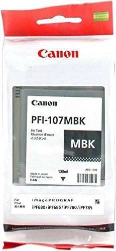 Canon 6704B001AA 130ml Ink Tank for Canon iPF680/685/780/785, Matte Black