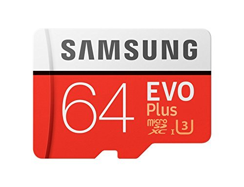 Samsung Evo Plus Class 10 Micro SDXC with Adapter, 64GB (MB-MC64GA)