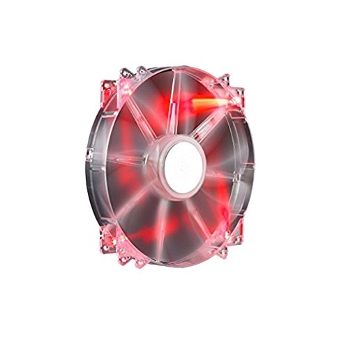 CoolerMaster 200mm MegaFlow 200 Red LED Case Fan