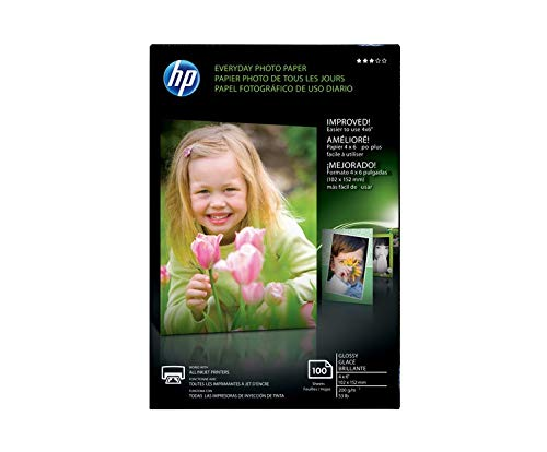 HP CR759A HP Photo Paper, 4-Inch x6-Inch, 100Sht/PK, Glossy/White