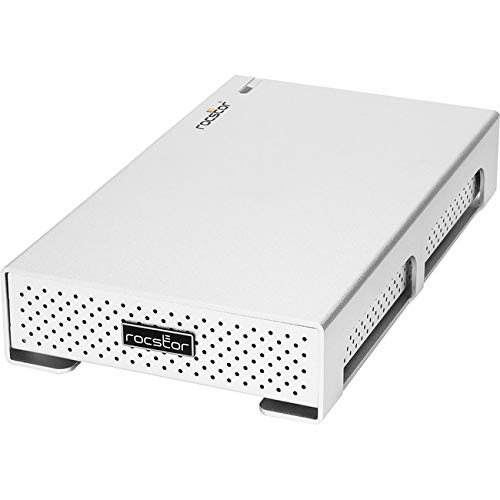 Rocstor Rocpro 900C Drive Enclosure Desktop/Portable - Silver - 1 x HDD Supported - 1 x SSD Supported - 1 X Total Bay - 1 X 2.5/3.5