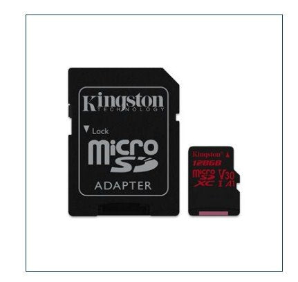 Kingston 128GB microSDXC Canvas React 100/80 U3 UHS-I V30 A1 (SDCR/128GBCR)