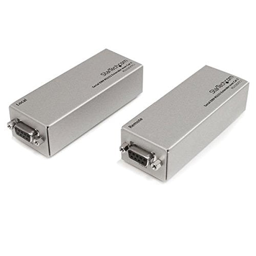 StarTech.com RS232EXTC1 Serial DB9 RS232 Extender Over Cat 5, up to 3300-Feet, 1000 Meters