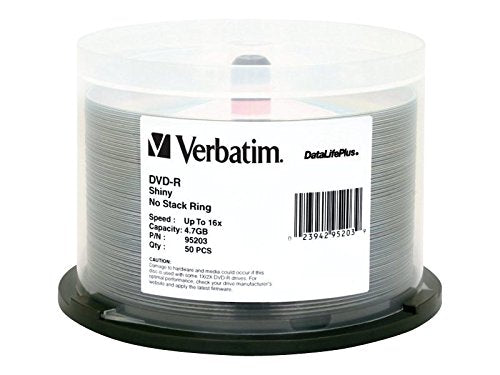 Verbatim 4.7GB up to 16x VX Recordable Disc DVD-R, 50-Disc Spindle  97281