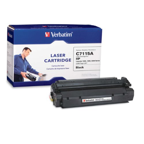 Verbatim HP C7115A Remanufactured Laser Toner Cartridge, Black 94466