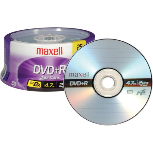 Maxell 634050 DVD+R Sindle, 25-Pack